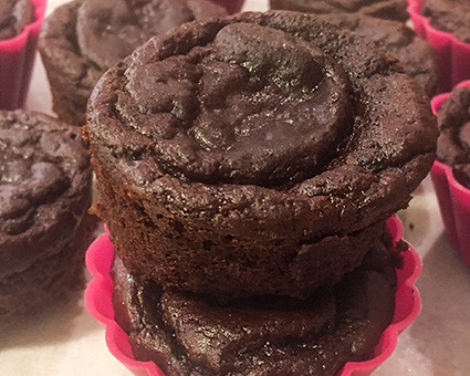Mocno czekoladowe babeczki fasolowe