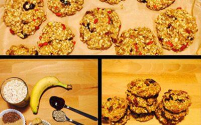 Ciasteczka owsiane zsuszonymi owocami