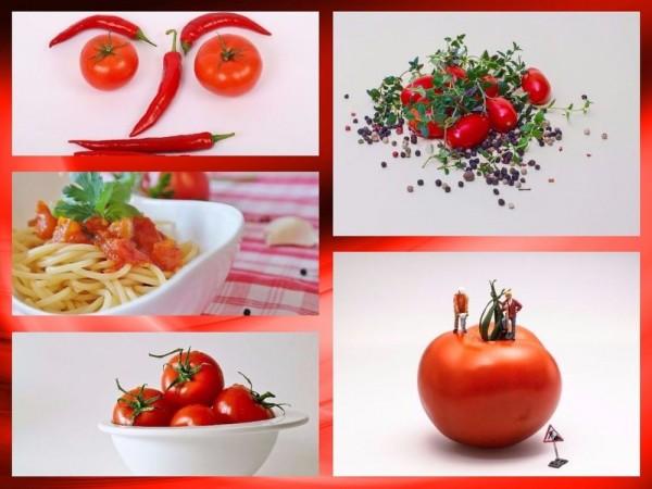 Kolaż (wyklejanka) natemat zdrowego odżywiania