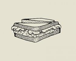 Kanapki zpastą zcukinii, papryki itofu