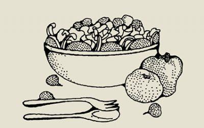 Sałatka z otrębami owsianymi i pestkami słonecznika