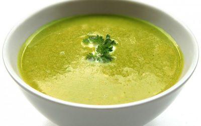 Kremowa zupa zbrokułów zserem feta
